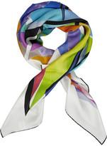 Silk-chiffon scarf