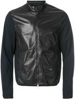 Emporio Armani contrast sleeve zipped jacket