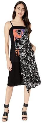 McQ Strap Drape Dress (Darkest Black/White) Women's Dress