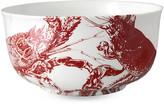 Caskata Lobster Serving Bowl - Red red/white