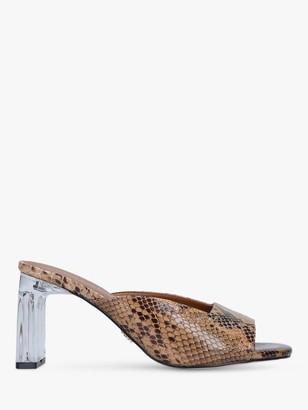 Kurt Geiger Briane Block Heel Mule Sandals, Snake Print
