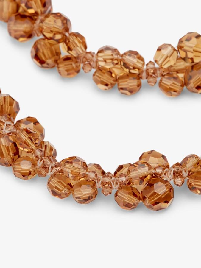 Thumbnail for your product : Simone Rocha Amber Beaded Drop Earrings