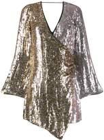 Pinko two-tone sequin wrap dress