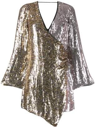 Pinko two-tone sequin wrap dress