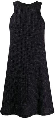 Fisico Metallic Tie-Back Dress