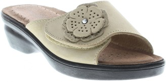 Spring Step Flexus by Leather Slide Sandals - Fabia
