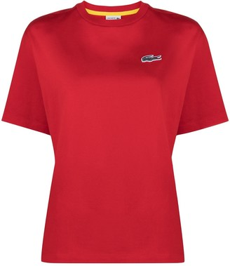 Lacoste logo patch short-sleeved T-shirt