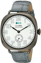 La Mer Signature LMOVW2040 Grey Gunmetal Oversized Vintage Watch