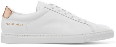 Common Projects Retro Metallic-paneled Leather Sneakers - White