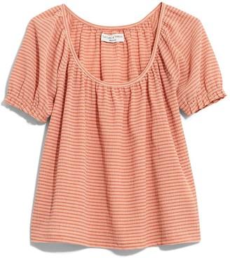 Madewell Texture & Thread Stripe Peasant Top (Regular & Plus Size)