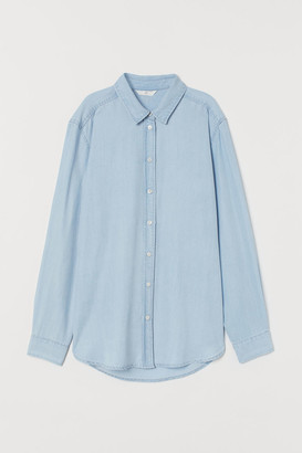 H&M Lyocell Denim Shirt - Blue