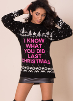 Missy Empire Black I Know What You Did Last Christmas Jumper