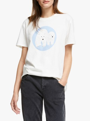 People Tree X BBC Earth Polar Bear T-Shirt, White