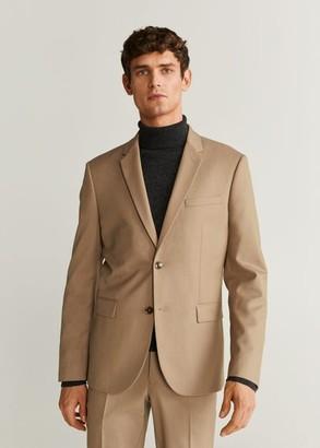 MANGO MAN - Super slim-fit suit blazer beige - 34 - Men
