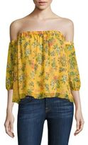 Ella Moss Poetic Garden Silk Off-the-Shoulder Top