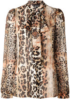 Just Cavalli leopard print blouse