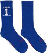 Vetements Blue Reebok Edition Tourist Socks