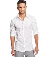 Alfani Men's Long-Sleeve Slim-Fit Solid Textured Shirt