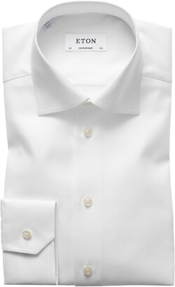 Eton Contemporary Fit Cavalry Twill Dress Shirt