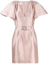 Alberta Ferretti belted mini dress