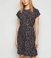 New Look Leopard Print Short Sleeve Mini Dress