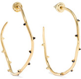 Noir Perchance Gold-Tone Crystal Hoop Earrings