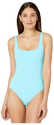 Becca by Rebecca Virtue Color Code Olivia Square Neck One-Piece (Sea) Women's Swimsuits One Piece
