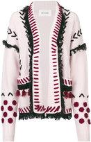 Michel Klein stitched fringe cardigan - women - Cashmere/Wool - 34