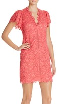 Rebecca Taylor Lace Flutter Sleeve Dress