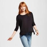Women's Long Sleeve Drapey Tee - Mossimo Supply Co. (Juniors')