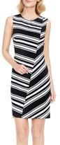 Vince Camuto Women's Stripe Ponte Knit Sheath Dress