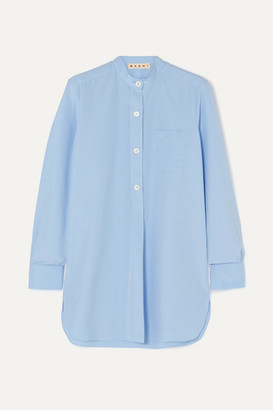 Marni Cotton-poplin Shirt - Light blue