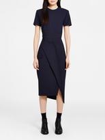 DKNY Pinstripe Wrap Dress