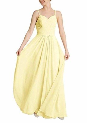 Leader of the Beauty Women Lavender Spaghetti Strap Wedding Evening Dresses Long Bridesmaid Dresses UK8