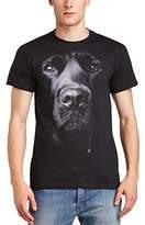 Printed Wardrobe Men's Big Face Animal Labrador Crew Neck Short Sleeve T-Shirt