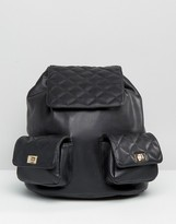 Asos Quilted Backpack With Chain Handle