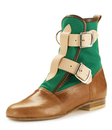 Vivienne Westwood Seditionaries Boots in Tan & Green