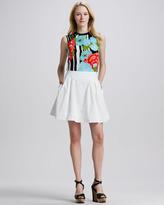 Nanette Lepore Beach Time Poplin Pleated Skirt