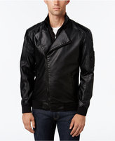 American Rag Men's 2Fer Faux-Leather Moto Blazer Style Bomber, Only at Macy's
