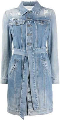 Givenchy Distressed Denim Shirt Dress