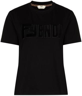 Fendi logo-applique T-shirt
