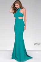 Jovani Fitted High Neck Prom Dress 48344