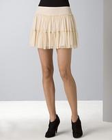 Women's Mesh Flippy Mini Skirt