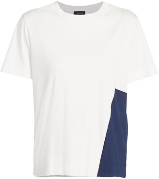 Akris Denim Accent Tee