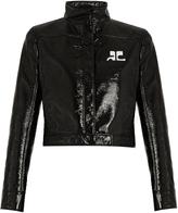 Courreges Faux patent-leather bomber jacket