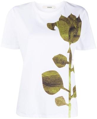Odeeh rose-print T-shirt