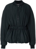 Isabel Marant elastic waist balloon sleeve jacket - women - Cotton/Polyamide/Polyester/Wool - 38