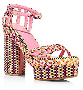 Antolina Women's Multicolored Woven Platform Sandals