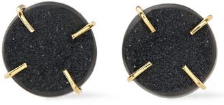 Melissa Joy Manning 14-karat Gold Agate Druzy Earrings