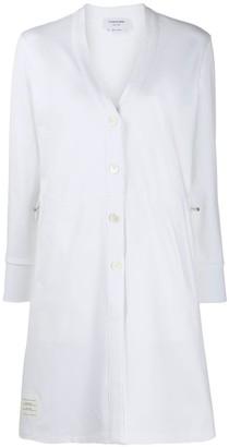 Thom Browne Logo-Patch Cardi-Coat